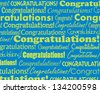 Congratulations - Grouped collection of different Congratulations text - stock photo
