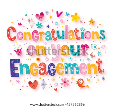 Congratulations on your engagement greeting card stock illustration congratulations on your engagement greeting card m4hsunfo