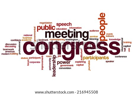 Congress concept word cloud background - stock photo