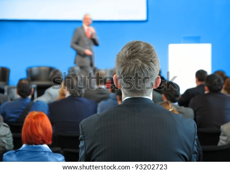 Congress  - unrecognizable people - stock photo