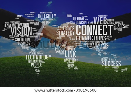 Connect Data Development Growth Strategy Team Concept - stock photo