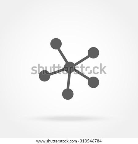 connect icon - stock photo