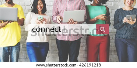 Connect Technology Online Wireless Concept