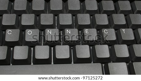 Connect written on keyboard