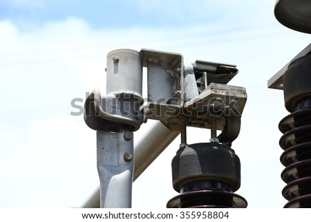 Connected Devices or switches - Components of the insulator - stock photo