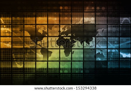Connected Globally Worldwide as a Network Concept - stock photo