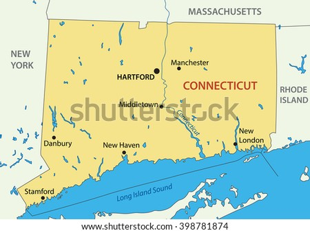 Connecticut - map
