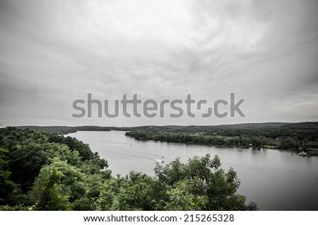 Connecticut river - stock photo