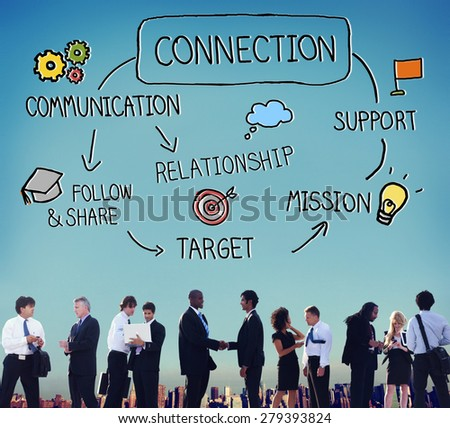 Connection Communication Networking Support Relationship Concept - stock photo