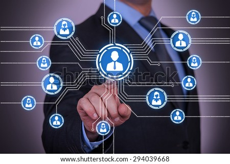 Connection Concept on Visual Screen  - stock photo