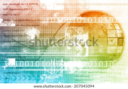 Connection Concept with Technology and Business art - stock photo