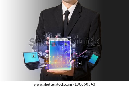 connection of technology - stock photo