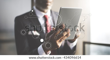 Connection People Networking Connect Concept - stock photo