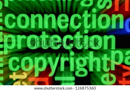 Connection protection copyright - stock photo