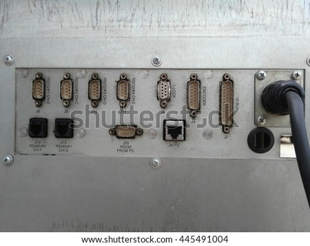 Connector of computer motherboard - stock photo