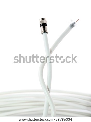 Connector on coaxial cable