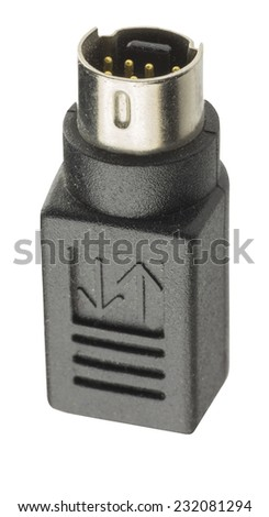 connectors for communication. plugs of different standards on a white background - stock photo