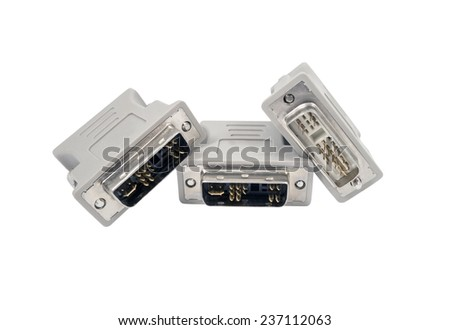 connectors on a white background