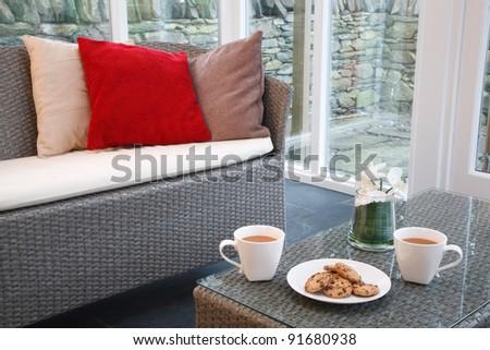 Conservatory interior design - stock photo