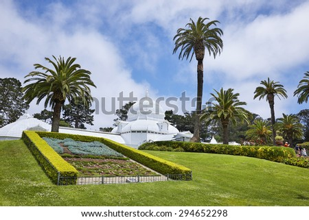 Conservatory of Flowers, Golden Gate Park, San Francisco, California, U.S.A. - stock photo