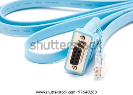 Console cable blue