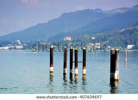 Constance lake and Bregenz, Austria