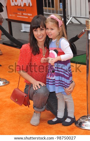 "Constance Zimmer & daughter at the world premiere of ""Dr. Suess' The Lorax"" at Universal Studios, Hollywood. February 19, 2012  Los Angeles, CA Picture: Paul Smith / Featureflash"