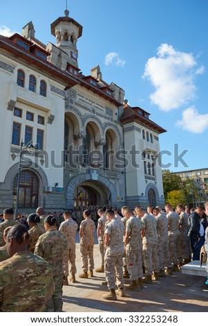 CONSTANTA COUNTY, ROMANIA - OCTOBER 25, 2015: Romanian Army Day - Military ceremonies, shows, military technology exhibitions ,event in Square Ovid ,in the Old Town of Constanta.