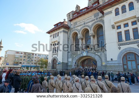 CONSTANTA COUNTY, ROMANIA - OCTOBER 25, 2015: Romanian Army Day - Military ceremonies, shows, military technology exhibitions ,event in Square Ovid ,in the Old Town of Constanta