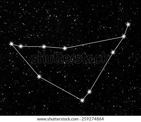 constellation Capricornus against the starry sky - stock photo