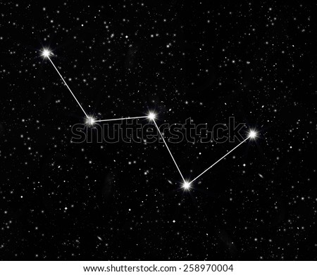constellation Cassiopeia against the starry sky - stock photo