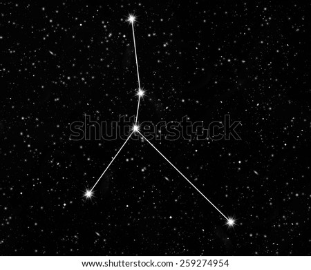 constellation of cancer against the starry sky - stock photo