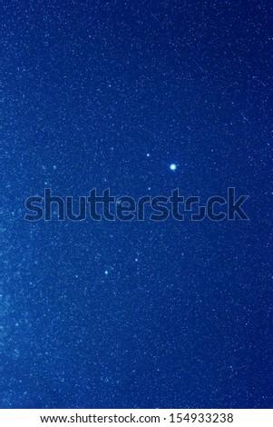Constellation of Lyra in summer night sky - stock photo