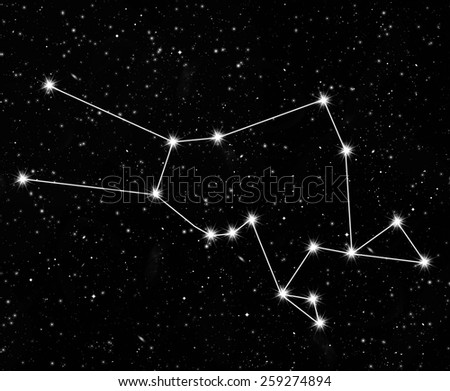 constellation Taurus against the starry sky - stock photo