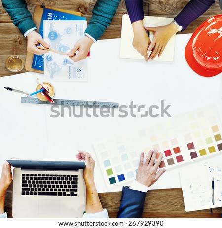 Constraction Design Team Meeting Brainstorming Planning Concept - stock photo