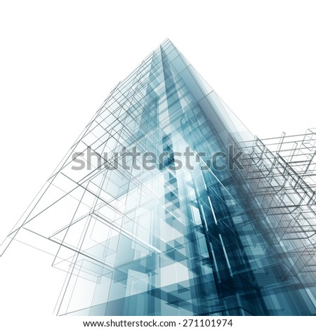 Construction architecture. Architecture design and model my own - stock photo