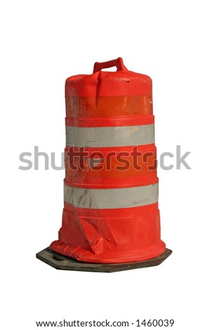Construction barrel - Isolated with clipping path