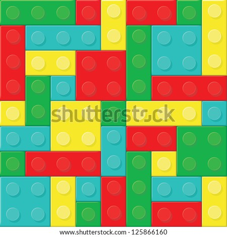 Construction blocks. Raster version, vector file available in portfolio. - stock photo