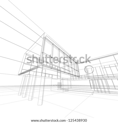 Construction blueprint. My design and 3d model - stock photo