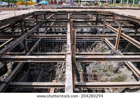 Construction building site - stock photo