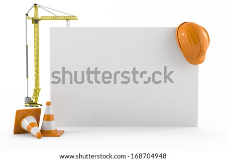 construction, business card concept - stock photo