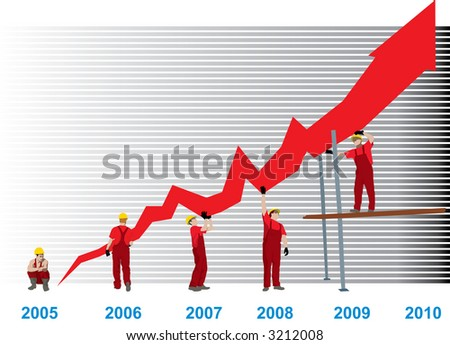 Construction Business Growth And Success graph (vector)