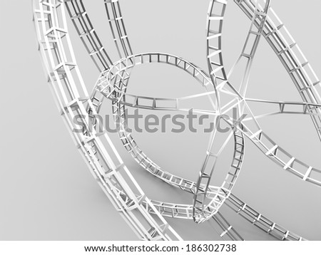 Construction concept rendered on white background