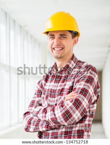 Construction Contractor Businessman - stock photo
