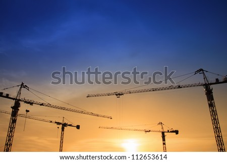 construction crane - stock photo