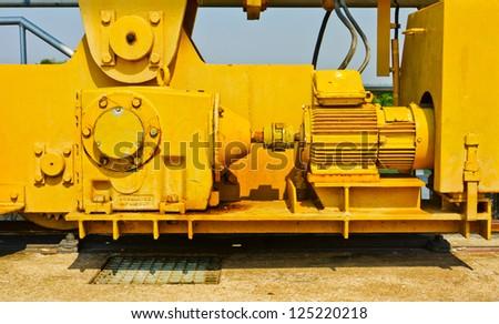 Construction crane motoring - stock photo