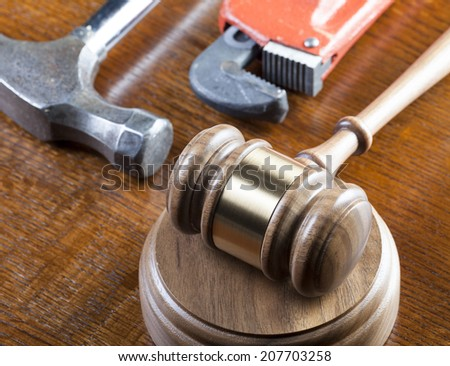 Construction Defects Litigation   - stock photo