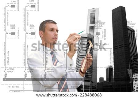 Construction designing - stock photo