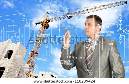 Construction engineering designing - stock photo