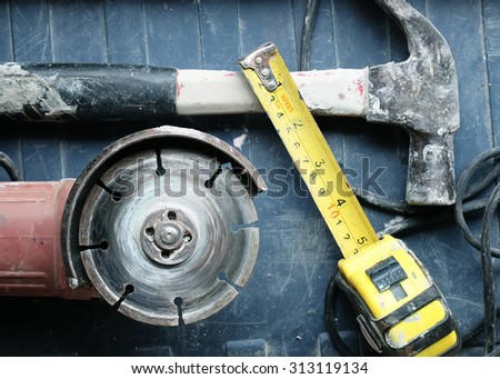 Construction Equipment. metal and other construction work. - stock photo